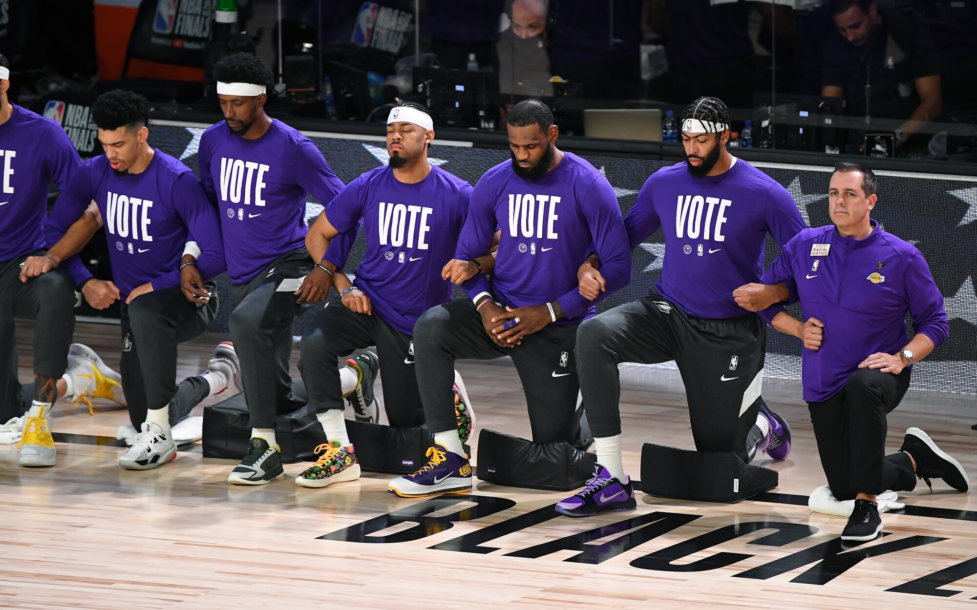 Lebron James And Lakers Take Lead In Nba Activism For Social Justice Los Angeles Times