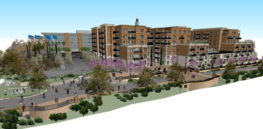 The north side of the apartment complex will include a public park and space for food trucks.