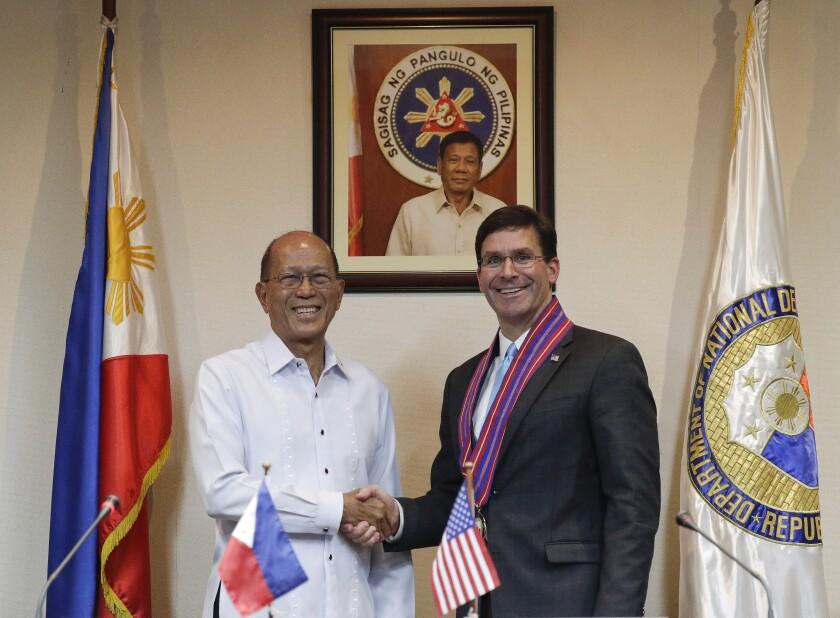 Philippines US Esper
