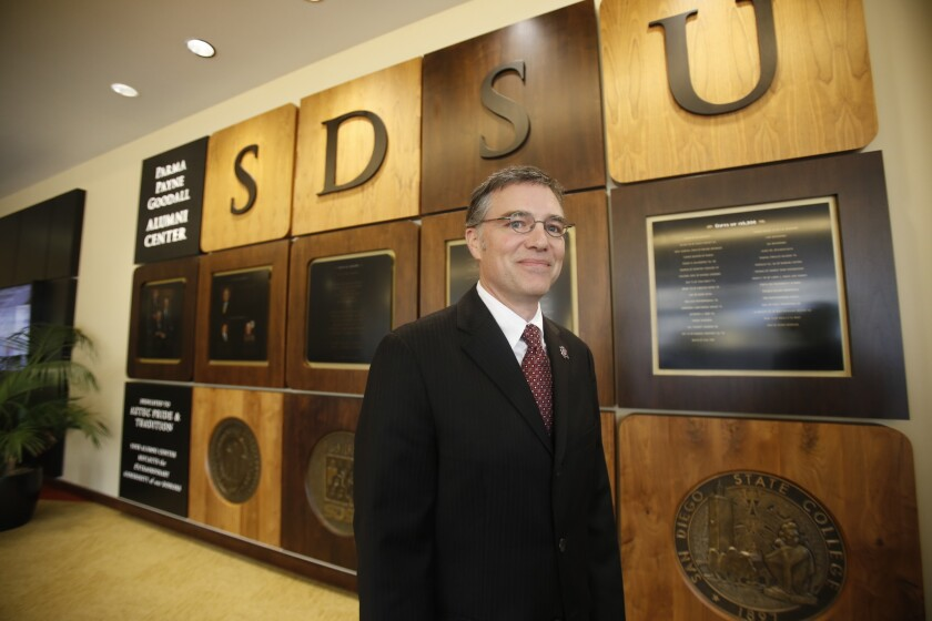San Diego State Athletic Director J.D. Wicker opposes SB 206.