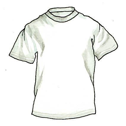 Early innovations in fashion design, the T-shirt