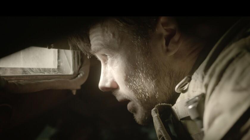 "Rupert Evans in the movie ""Tank 432."""