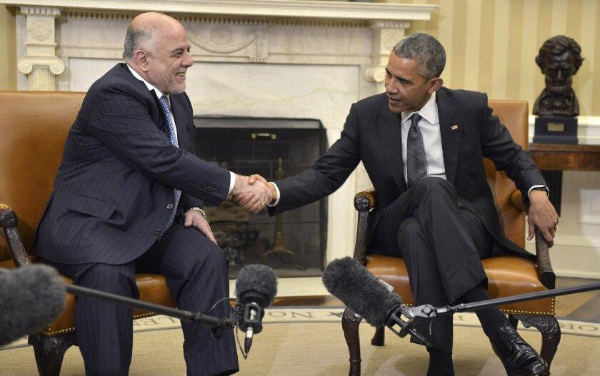 Haider Abadi and Barack Obama