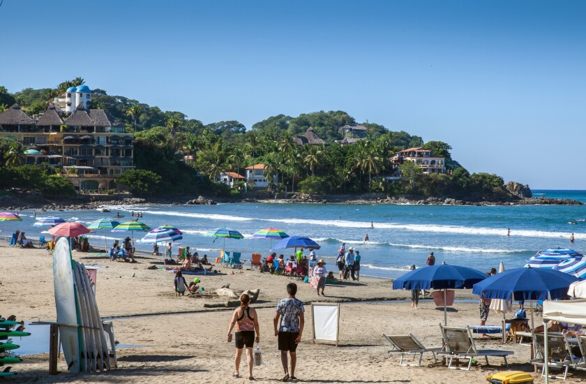 In recent years, families and novice surfers have discovered the Riviera Nayarit's once quiet beaches.