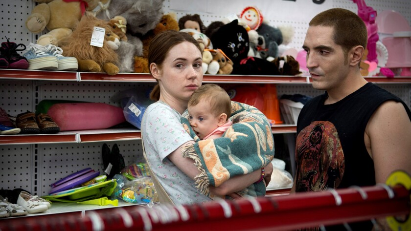 "(L-R)- Karen Gillan and David Dastmalchian in a scene from ""All Creatures Here Below."" Credit: Samue"