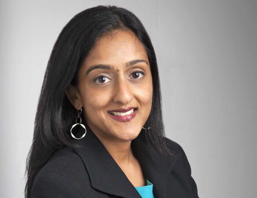 Vanita Gupta will become acting assistant attorney general for civil rights immediately, but won't be formally nominated until after the midterm elections.