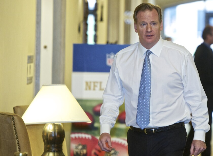 NFL commissioner Roger Goodell says the league has decided to cancel meetings scheduled for the end of March because of coronavirus concerns.
