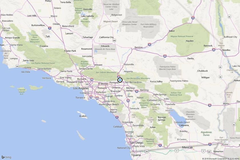 Earthquake: 4.3 quake strikes near Muscoy, Calif.