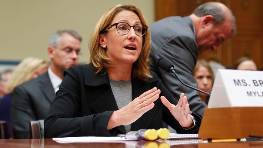Mylan CEO Heather Bresch testifies on Capitol Hill in Washington, D.C., on Sept. 21 before the House Oversight Committee hearing on EpiPen price increases.
