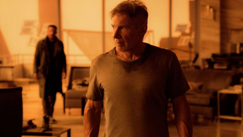 "Ryan Gosling and Harrison Ford star in director Denis Villeneuve's sci-fi sequel ""Blade Runner 2049."""
