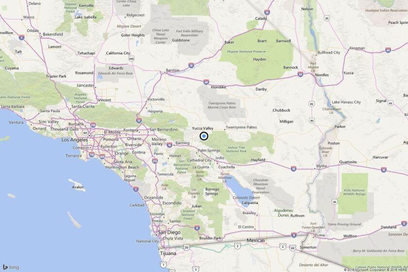 Earthquake: 3.0 quake strikes near Yucca Valley, Calif.