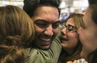 'My life turned upside down': Iraqi student returns to L.A.