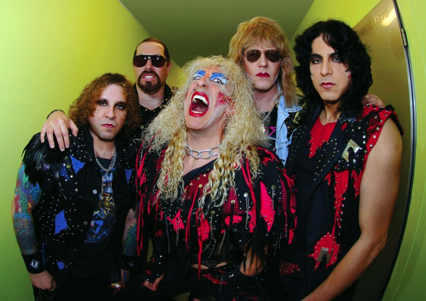 Twisted Sister drummer A.J. Pero, far left, is shown with his bandmates Mark Mendoza, Dee Snider, Jay Jay French and Eddie Ojeda in 2006.