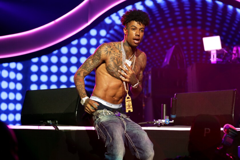 Blueface performs  June 21 at the 2019 BET Experience at Staples Center in L.A.