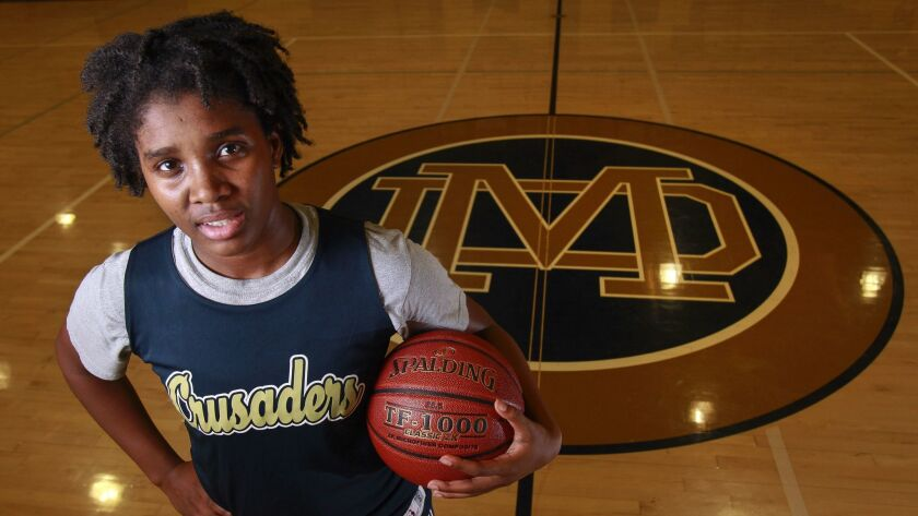 Chloe Webb is averaging 15.9 points, 8.0 rebounds, 3.4 assists and 2.3 steals a game for Mater Dei Catholic.
