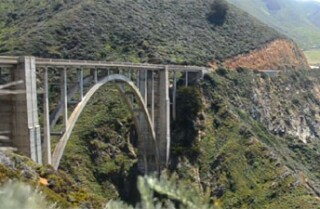 A Minute Away: Light traffic on Bixby Bridge, Big Sur