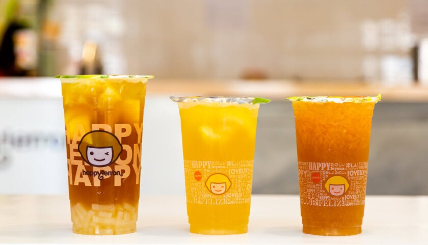 Happy Lemon's lemon tea series.