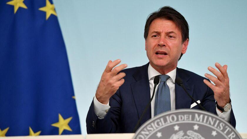 Italian cabinet approves hardline migration decree, Rome, Italy - 24 Sep 2018