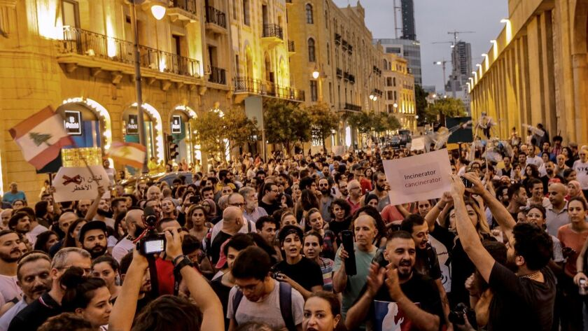 Waste crisis in Lebanon, Beirut - 29 Aug 2018