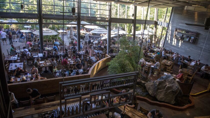 July 23, 2015_San Diego California_USA_| A view of the main dining area at Stone Brewing Company in