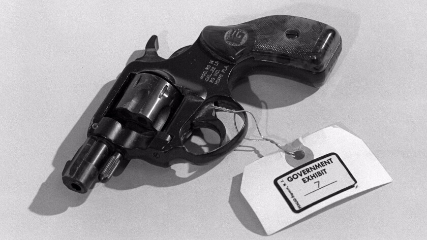 John Hinckley Jr. used this .22 revolver when he tried to kill President Reagan on March 31, 1981.