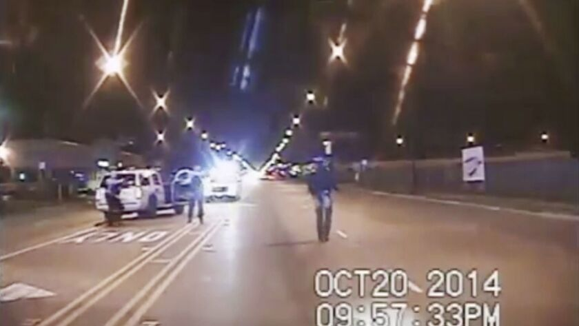 FILE - In this Oct. 20, 2014 file image taken from dash-cam video provided by the Chicago Police Dep
