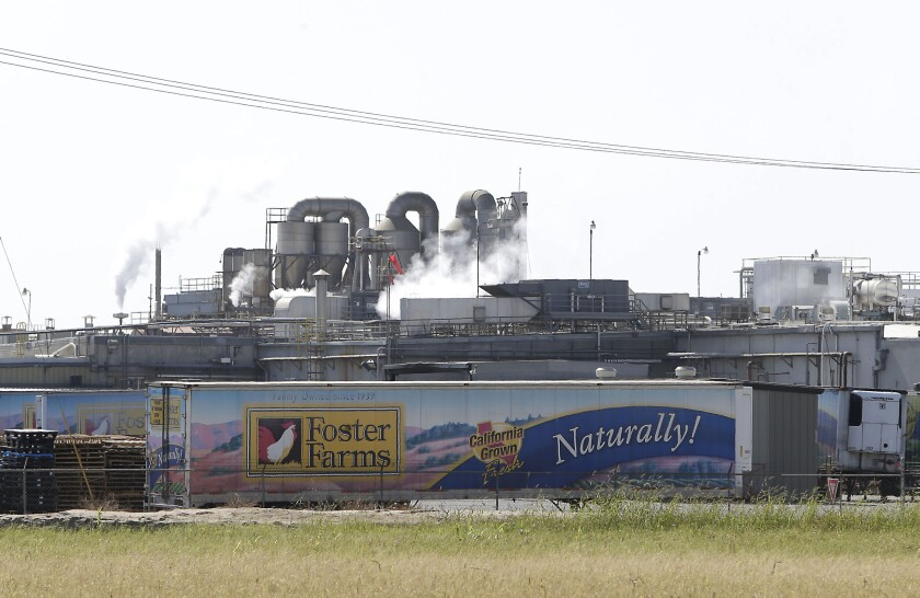 The Foster Farms processing plant in Livingston, Calif., in 2013.