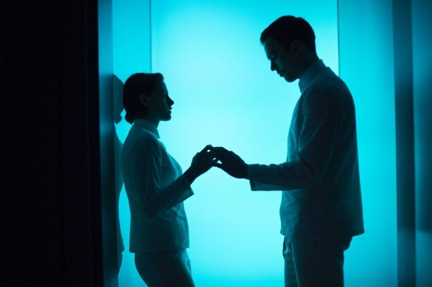 """Kristen Stewart as Nia and Nicholas Hoult as Silas in """"Equals."""""""