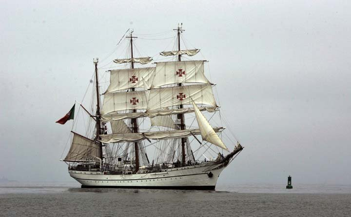Arrival of The Portuguese Barque S.T.S Sagres