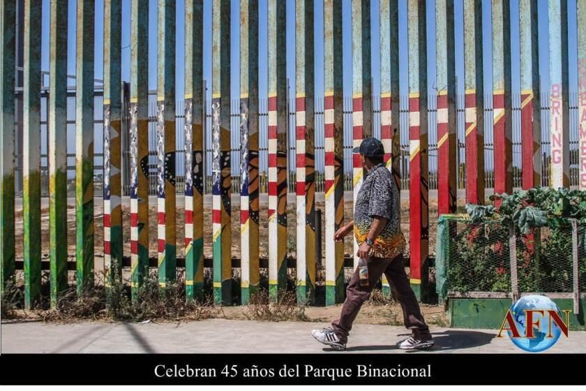 Muro fronterizo en el Parque Binacional. Por Joebeth Terriquez