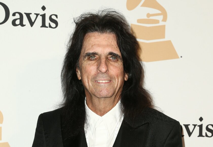 Alice Cooper arrives at the 2016 Clive Davis Pre-Grammy Gala at the Beverly Hilton Hotel on Sunday, Feb. 14, 2016, in Beverly Hills, Calif. (Photo by John Salangsang/Invision/AP)