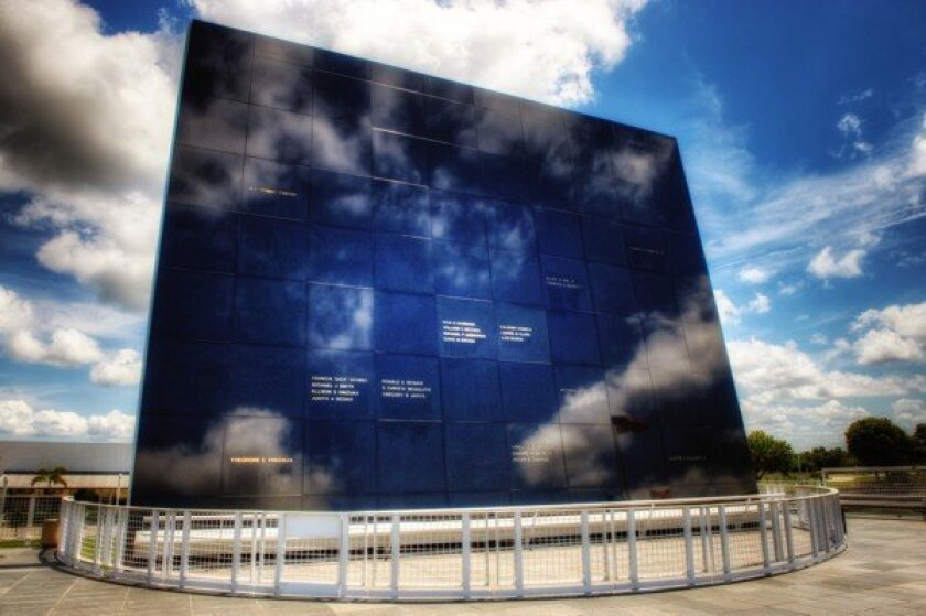 Space Mirror Memorial at Kennedy Space Center.
