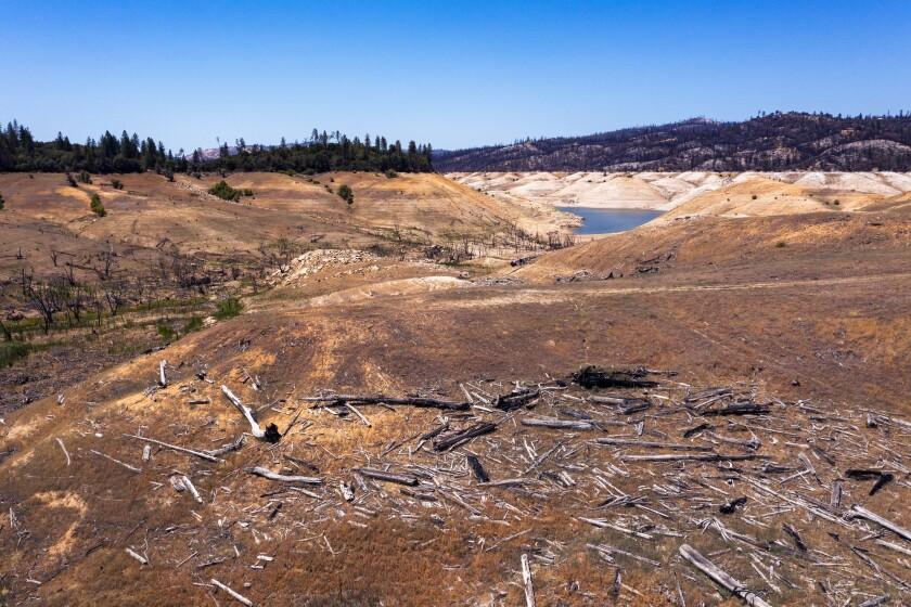 Drought-stricken Lake Oroville