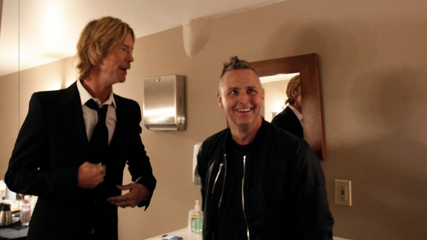 """Duff McKagan, left, and Mike McCready in the documentary """"It's So Easy and Other Lies."""""""