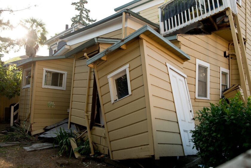 A home in Napa was damaged by Sunday's 6.0-magnitude earthquake.