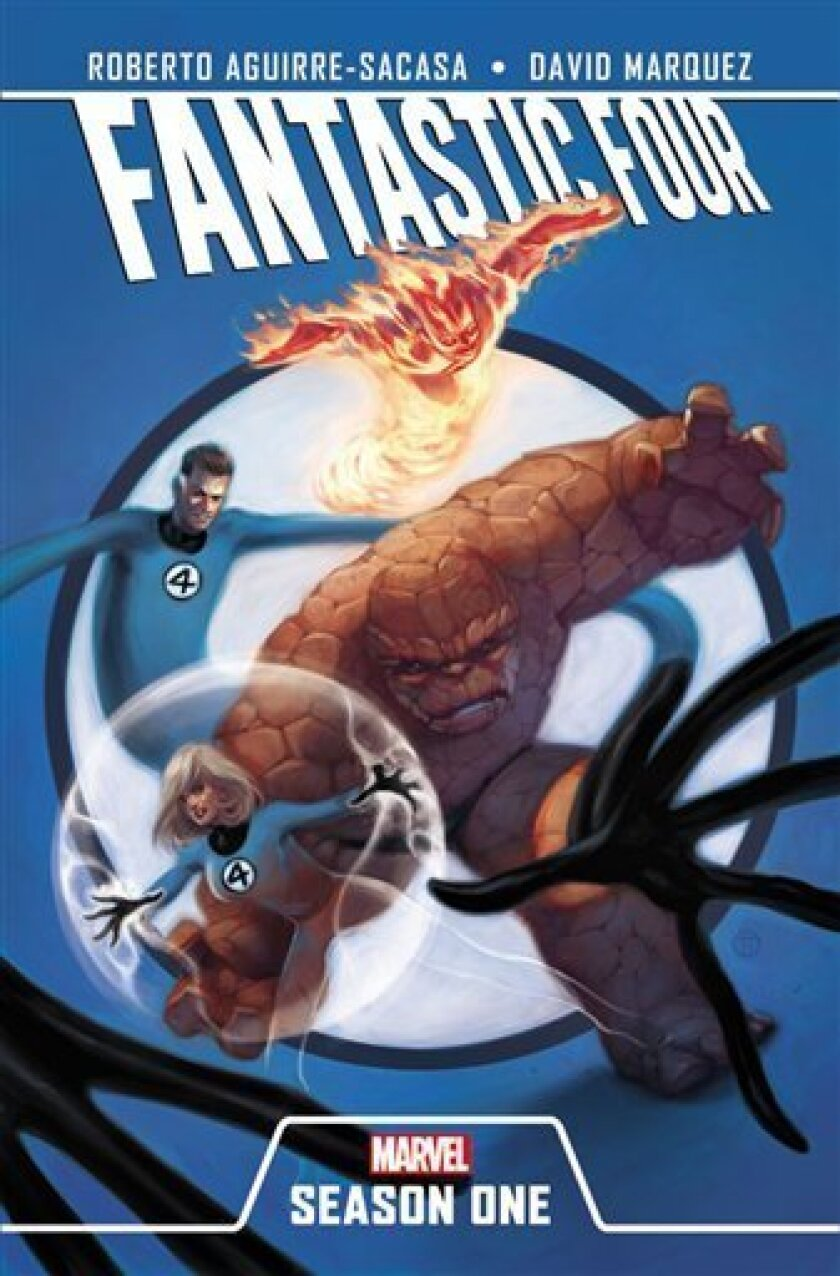 """This undated image provided by Marvel Entertainment LLC shows the cover of """"Fantastic Four: Season One"""", the first in what will be a series of titles that take classic origins of Marvel characters, including Daredevil, Spider-Man and The X-Men, and refresh them with a contemporary feel evoking modern time. The characters, including the Fantastic Four, were created in the early 1960s by Jack Kirby, Stan Lee, Steve Ditko and Bill Everett, and helped launch the Silver Age of comics. (AP Photo/Marvel Entertainment LLC )"""