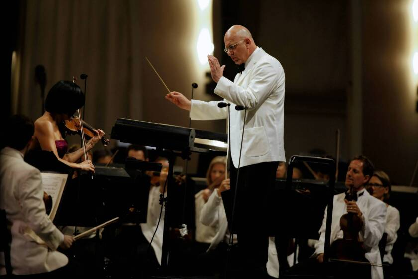 Music review: Botstein has last laugh with L.A. Phil at the Bowl