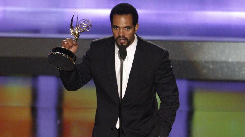 "Kristoff St. John wins outstanding supporting actor in a drama series for his work on ""The Young and the Restless"" at the 2008 Daytime Emmys."