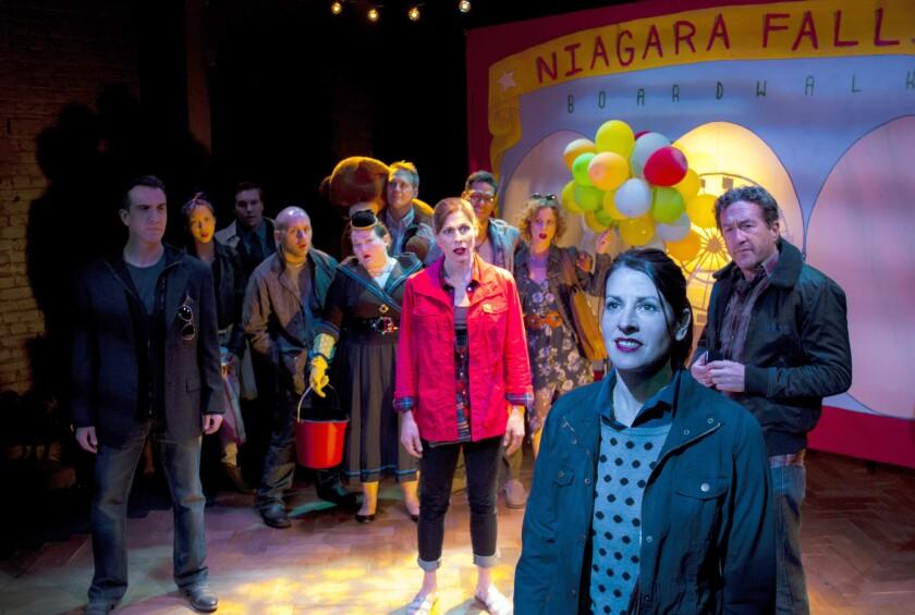 John Colella, Reamy Hall, Alina Phelan, Brad C. Light (foreground) and Theatre of NOTE ensemble.