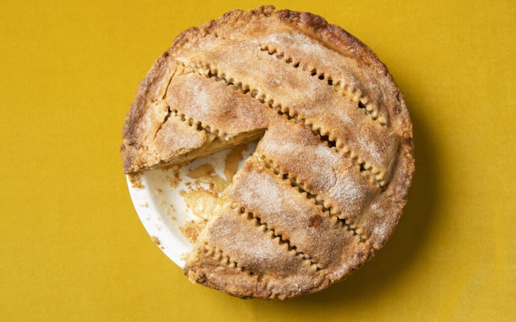 Oven-Fried Apple Pie with Spiced Shortening Crust