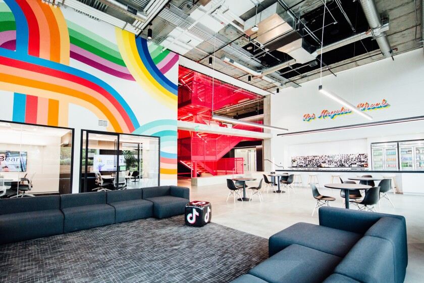 TikTok offices located in Culver City.