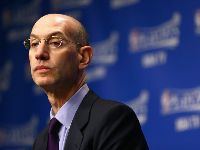 NBA Commissioner Adam Silver addressed reporters Friday afternoon.