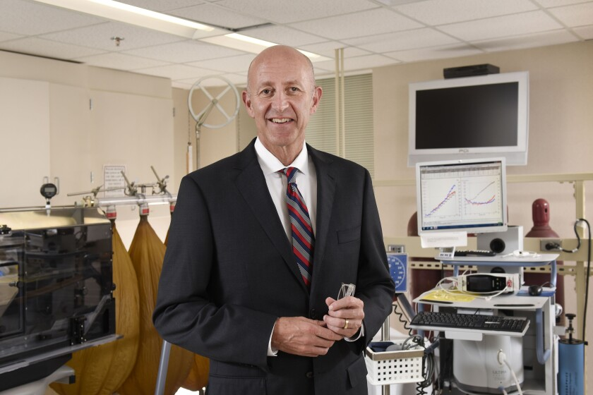 Dr. Michael Joyner in his Mayo Clinic lab