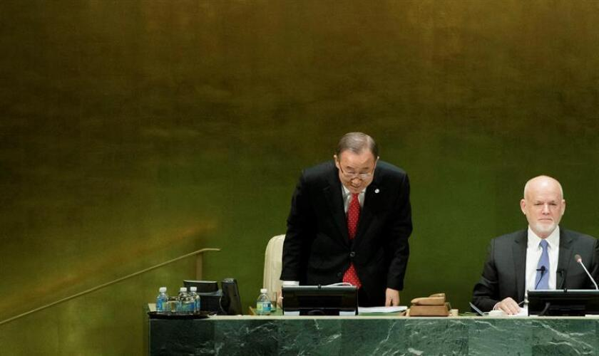 El secretario general de la ONU, Ban Ki-moon (i). EFE/Archivo