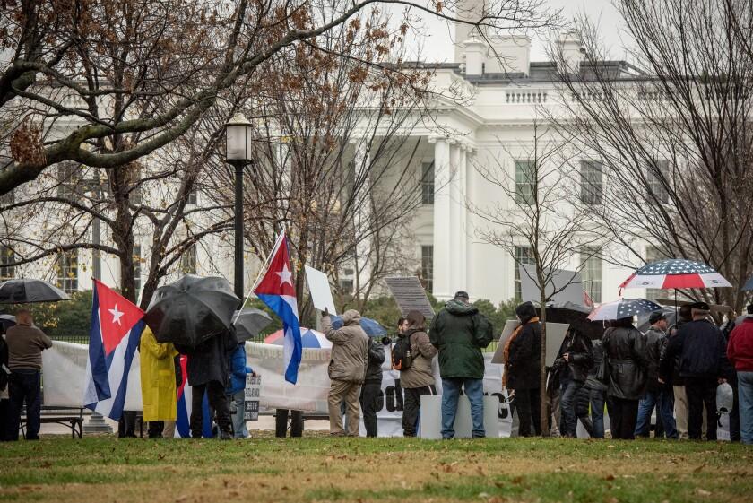 Anti-Castro rally outside White House