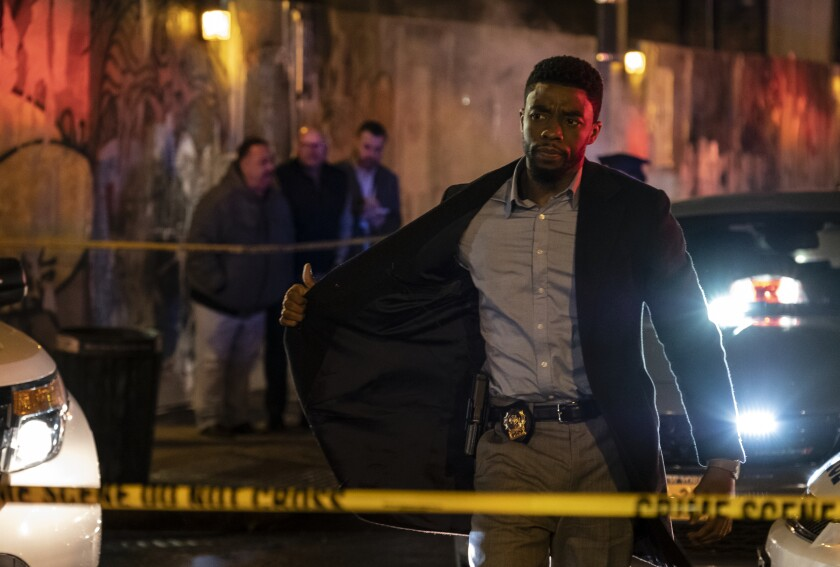 "Chadwick Boseman in ""21 Bridges""  (2019)."