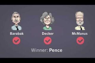 Scoring the vice presidential debate