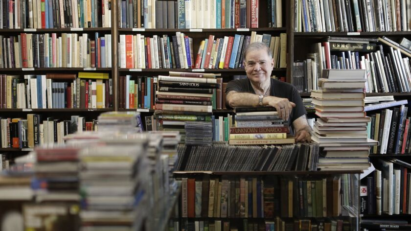 David Benesty has been at Sam: Johnson's Bookshop for decades. The store has been on Venice Boulevard in Mar Vista since 1987. The shop is closing soon, another victim of high rents and the age of Amazon and Kindle.