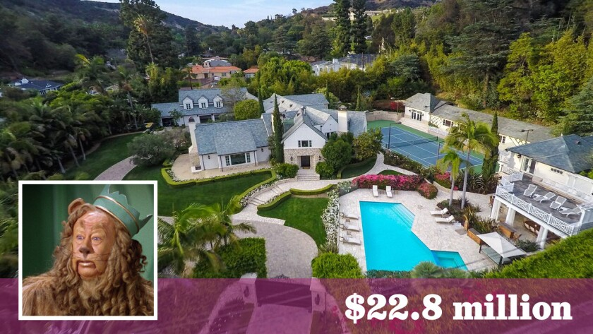 """The Beverly Crest estate, designed by Paul R. Williams, has a chain of ownership that includes Bert Lahr, who played the Cowardly Lion in 1939's """"The Wizard of Oz,"""" Betty Grable and Don Johnson."""
