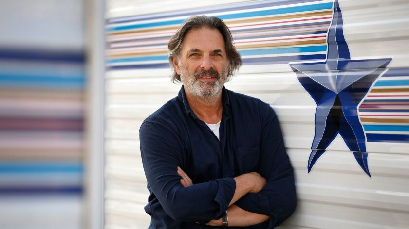 """Ken Olin on the Paramount lot in Hollywood where """"This Is Us"""" is filmed. Olin, best known for his role as Michael Steadman on """"thirtysomething,"""" serves as an executive producer and frequent director on NBC's breakout family drama."""